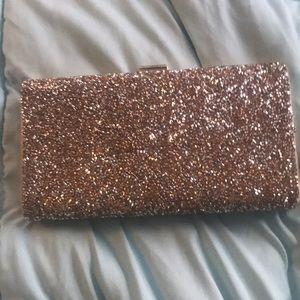 EUC Aldo Gold Glitter clutch
